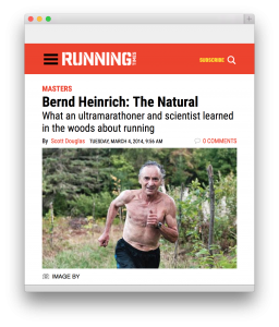 Professor Heinrich has also been a very sucessful ultra distance runner and holds several records in different age divisions. (Click on image for an article.)