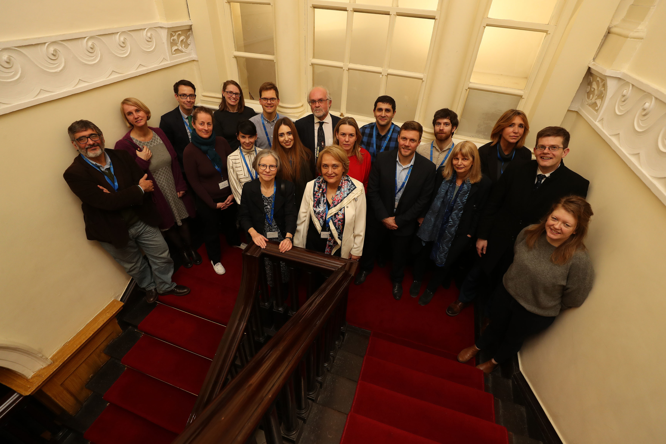Group photo taken at the launch of the PEriTiA H2020 Project in March 2020, taken at the Newman House, St Stephens Green, Dublin. Photograph Nick Bradshaw.